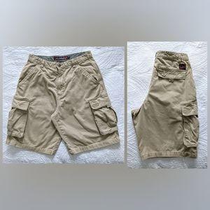 Plugg | Khaki Cargo Shorts | 32